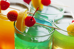 Cocktail variopinti Immagini Stock Libere da Diritti