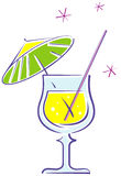 Cocktail (Vector). Vector illustration ob white background - Cocktail Royalty Free Stock Images
