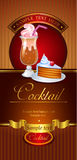 Cocktail vector banner Stock Image