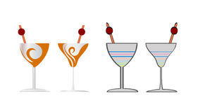 Cocktail vector icon design illustration object Stock Photos