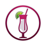 Cocktail vector icon. Royalty Free Stock Photos