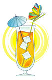 Cocktail vector illustration Royalty Free Stock Photos