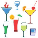 Cocktail. Vector illustration (EPS 10 Royalty Free Stock Photos