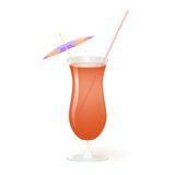 Cocktail, vector illustration Royalty Free Stock Images