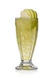 Cocktail verde com maçãs e gelo Imagem de Stock Royalty Free