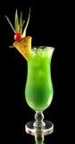 Cocktail verde con l'ananas Immagini Stock Libere da Diritti