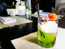 Cocktail verde del melone immagine stock libera da diritti