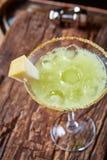 Cocktail verde del melone della margarita Immagine Stock