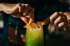 Cocktail verde di Apple Fotografia Stock Libera da Diritti