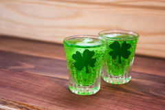 Cocktail verde il giorno del ` s di St Patrick Fotografia Stock