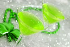 Cocktail verdes Imagem de Stock Royalty Free