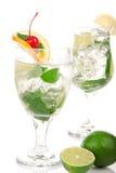 Cocktail verdi di Mojito Fotografia Stock