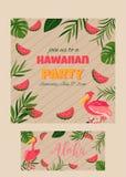 Cocktail, verjaardagsuitnodiging op houten achtergrond Royalty-vrije Stock Fotografie