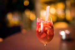 Cocktail vermelho Barca imagem de stock royalty free