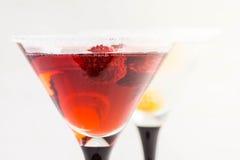 Cocktail vermelho com framboesa imagens de stock royalty free
