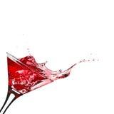 Cocktail vermelho com respingo Foto de Stock