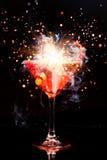 Cocktail vermelho com respingo Imagem de Stock Royalty Free