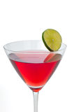 Cocktail vermelho de Martini Fotos de Stock Royalty Free