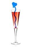 Cocktail vermelho do álcool do champanhe foto de stock