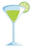 Cocktail vert illustration de vecteur