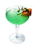 Cocktail vert avec de la glace Image libre de droits