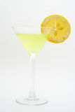 Cocktail vert avec le citron Photographie stock