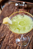 Cocktail vert de melon de margarita Image stock
