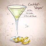 Cocktail Vesper mixed drink Stock Photos