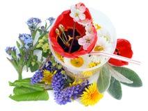 Cocktail von den Mai-Blumen stockbilder