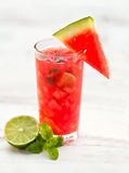 Cocktail of watermelon with lime Royalty Free Stock Images