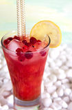 Cocktail with watermelon. A refreshing summer drink. Royalty Free Stock Photo