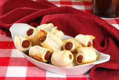 Cocktail wieners in pastry Stock Photos