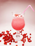 Cocktail with wild strawberry fruit Royalty Free Stock Image