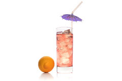 Cocktail in wineglass Stock Images