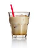 Cocktail ?witte Rus? van de alcohol isoleerde op wit Stock Foto's