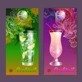 Cocktailaffiche De achtergrond van de disco Royalty-vrije Stock Foto