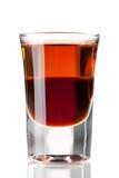 Cocktailansammlung: Zweischichtiger Schuß Lizenzfreies Stockfoto