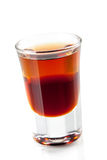 Cocktailansammlung: Zweischichtiger Schuß Stockfoto