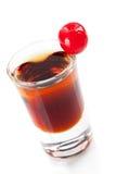 Cocktailansammlung: Zweischichtiger Schuß mit marasch stockfoto