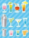 Cocktailaufkleber - Vektor Stockfoto