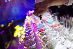 Cocktaildranken stock afbeelding