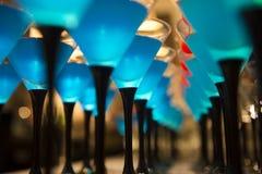 Cocktaildranken met rode kers Royalty-vrije Stock Foto's