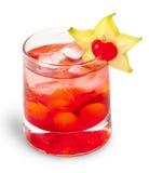 cocktaile石榴汁糖浆红色补剂 图库摄影