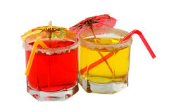 Cocktaile set tropical juices Stock Photo