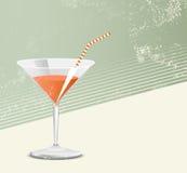 Cocktailglas - Retrostil Stockbild