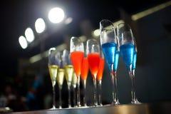 Cocktailglazen Stock Fotografie