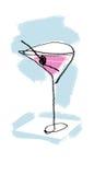 Cocktailillustratie (kleur) Royalty-vrije Stock Fotografie