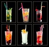Cocktailinzameling Stock Foto's