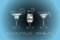 Cocktailparty-Designmenühintergrund vektor abbildung