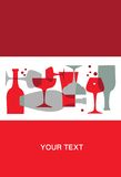 Cocktailparty Einladung - 2 Lizenzfreie Stockfotos